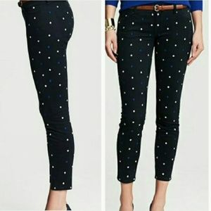 BANANA REPUBLIC POLKA DOT ANKLE PANTS